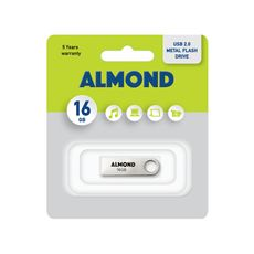 Usb Almond Flash Drive Usb 16GB Twister Μαύρο -Usb Memory Sticks στο Καταστήματα Κύβος