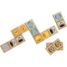 Giant Wooden Dominoes Safari Animal -Smart Games στο Καταστήματα Κύβος