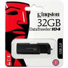 USB 2.0 Kingston 32GB DataTraveler 104 -Usb Memory Sticks στο Καταστήματα Κύβος