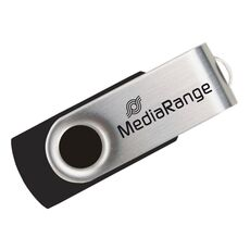 USB 2.0 MediaRange Flash Drive 8GB (Black/Silver) -Usb Memory Sticks στο Καταστήματα Κύβος