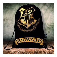 Harry Potter Drawstring Bag Black -Harry Potter στο Καταστήματα Κύβος
