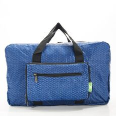 Recycled Holdall Bag Eco Chic Navy Disrupted Cubes -Eco Chic Bags στο Καταστήματα Κύβος