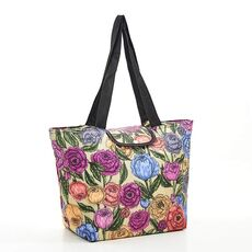 Recycled Large Cool Bag Eco Chic Green Peonies -Eco Chic Bags στο Καταστήματα Κύβος
