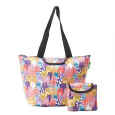 Recycled Large Cool Bag Eco Chic Multiple Cats -Eco Chic Bags στο Καταστήματα Κύβος
